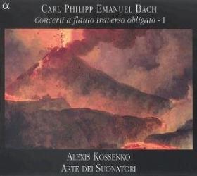 Bach CPE : concertos pour flûte traversière / Vol.1: Alexis Kossenko - Ensemble Arte dei Suonatori, label Alpha