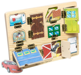 : Wooden Magnetic Hide & Seek Doors