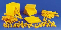 : FRANK SCHAFFER PUBLICATIONS BASE TEN NUMBER CONCEPTS PLASTIC100 CUBES 20 RODS 10 FLATS 1 BLOCK