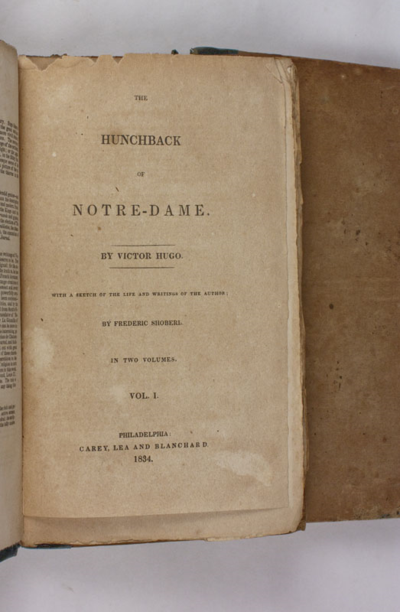 Hunchback of Notre Dame first edition
