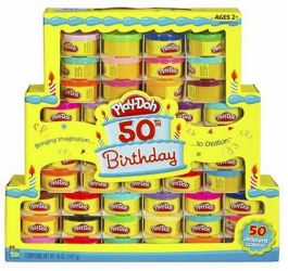: Play-Doh 50th Birthday Rainbow Pack of 50 Different Colors