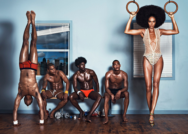 INDUSTRIE MAGAZINE Joan Smalls in Personal Trainer by Lachlan Bailey. George Cortina, Summer 2014, www.imageamplified.com, Image Amplified