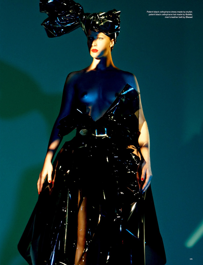 LOVE MAGAZINE Raquel Zimmermann in The Plastics by David Sims. Katie Grand, Fall 2014, www.imageamplified.com, Image Amplified
