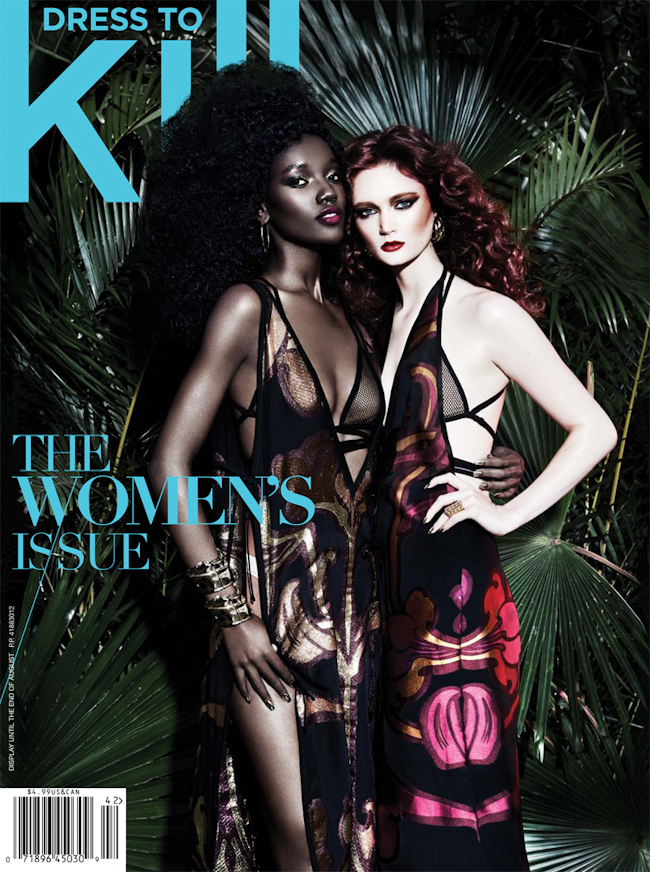DRESS TO KILL MAGAZINE Herieth Paul & Sophie Touchet in Jungle Fever by Gabor Jurina. Cary Tauben, Summer 2014, www.imageamplified.com, Image Amplified