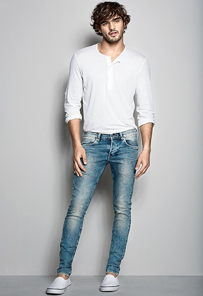 LOOKBOOK Marlon Teixeira for H&M Denim Fit Guide 2014. www.imageamplified.com, Image Amplified