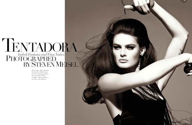 VOGUE BRAZIL Isabeli Fontana in Tentadora by Steven Meisel. Carlyne Cerf de Dudzeele, August 2014, www.imageamplified.com, Image Amplified