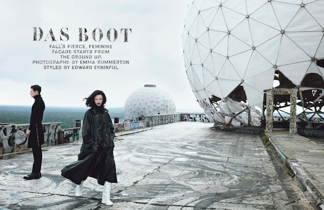 W MAGAZINE Mariacarla Boscono in Das Boot by Emma Summerton. Edward Enninful, September 2014, www.imageamplified.com, Image Amplified