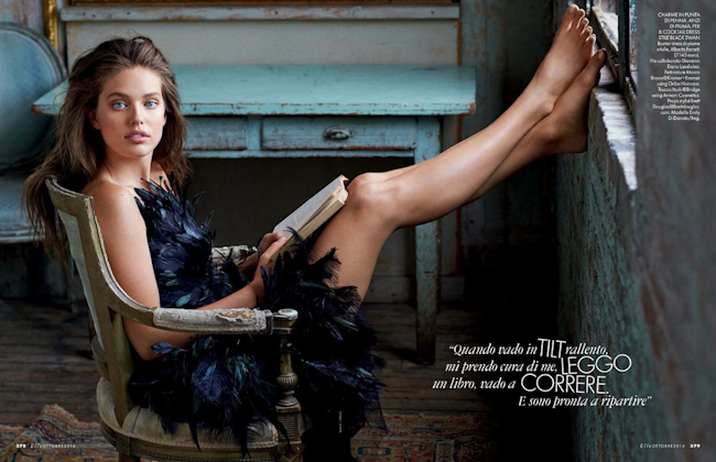 ELLE ITALIA Emily Didonato in Private Emily by Matt Jones. Alberto Zanoletti, October 2014, www.imageamplified.com, Image Amplified
