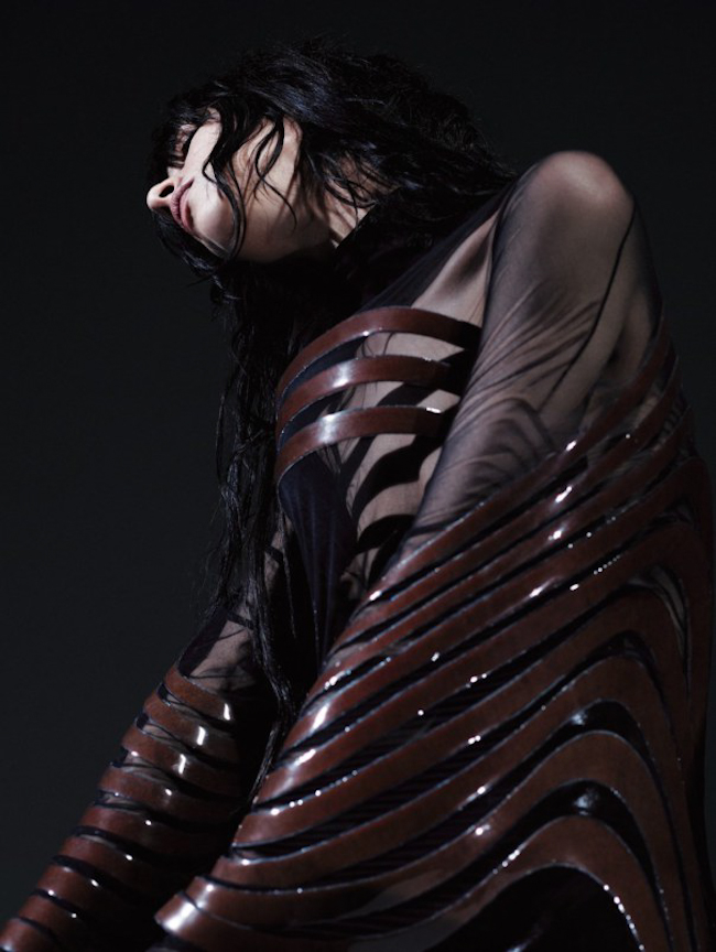 GARAGE MAGAZINE Jamie Bochert in Parallax by Willy Vanderperre. Charlotte Stockdale, Fall 2014, www.imageamplified.com, Image Amplified