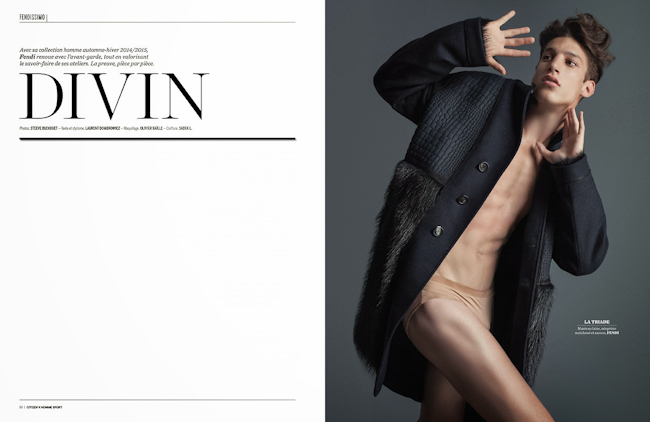 CITIZEN K MAGAZINE Iasonas Laios & Lukas Mikulski in Divin by Steeve Beckouet. Fall 2014, www.imageamplified.com, Image Amplified