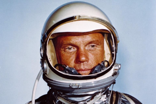 John glenn in mercury suit