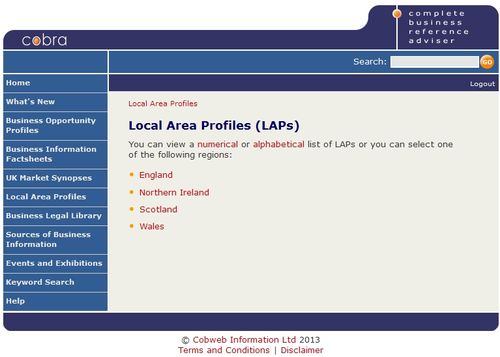 Cobra local area profiles