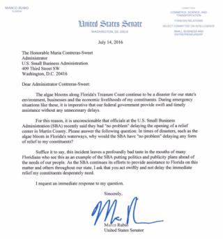 Rubio letter