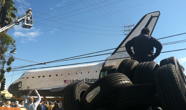 PHOTOS: Endeavour rolls through the streets of L.A.