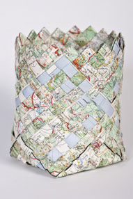 Map paper basket