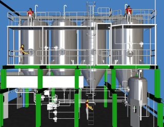 An example of the new storage tanks, designed in CADWorx Plant Professional.