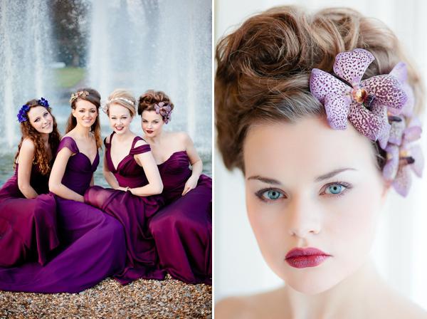 Прическа на длинные волосы для подружки невесты