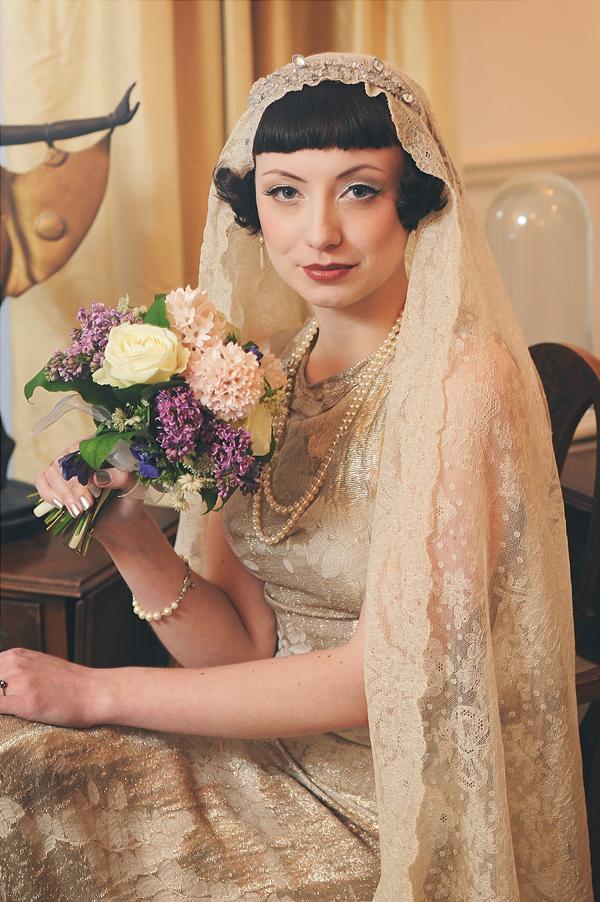 Vintage Wedding Makeup Artist : An Eco-Friendly, 1920?s Vintage Fashion Inspired Bridal ...