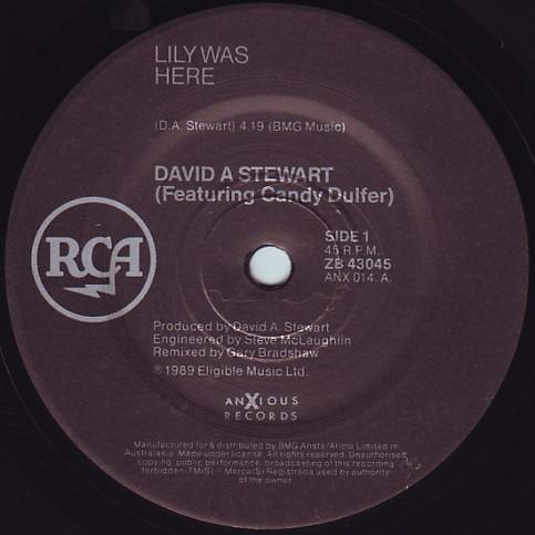 David A. Stewart Feat. Candy Dulfer - - Lily Was Here