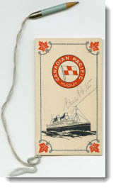 Canadian Pacific Whist Drive score card, 1925