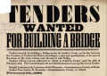 Tenders wanted for building a bridge, 1866