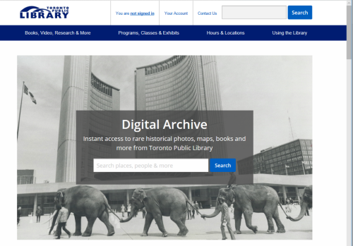 Search the Digital Archive