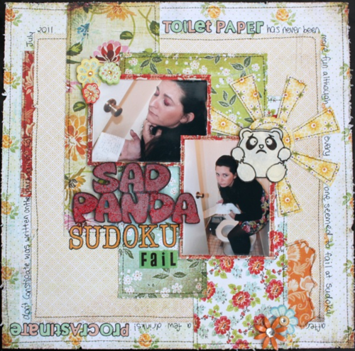 Amy Prior - Layout 10 - Sad Panda.. Sudoku Fail - Sad Panda Title 600x600