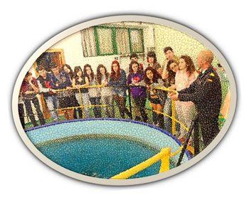 Estudiantes de Bachillerato del IES 'Alpajés', de visita en el Centro de Buceo de la Armada, en Cartegena.