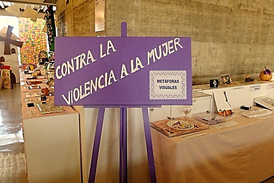 II Bienal de Arte y Escuela: Espacio reservado a las producciones del  Proyecto 'Metáforas visuales contra la violencia a la mujer'