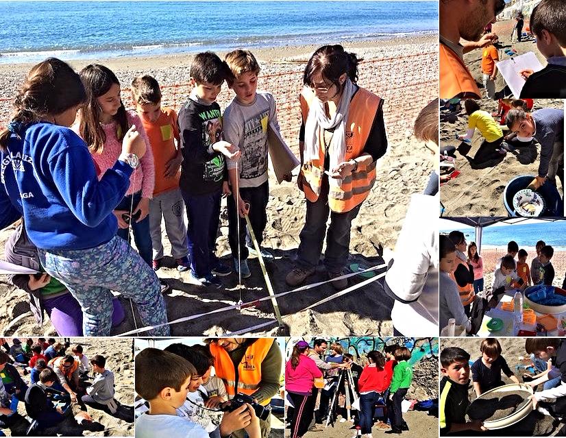Nuestro taller ha consistido en un supuesto práctico basado en la detección de restos de un navío hundido (pecio) descubiertos accidentalmente en la playa.