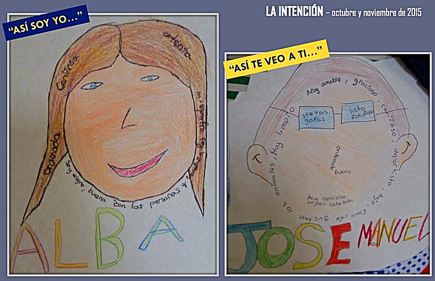 Trabajo infantil que ilustra la segunda fase de la Metodología de ABP y la primera de 'mejora de la autoestima' de la Educación para Justicia Social | aportada por Juanjo Vengara.