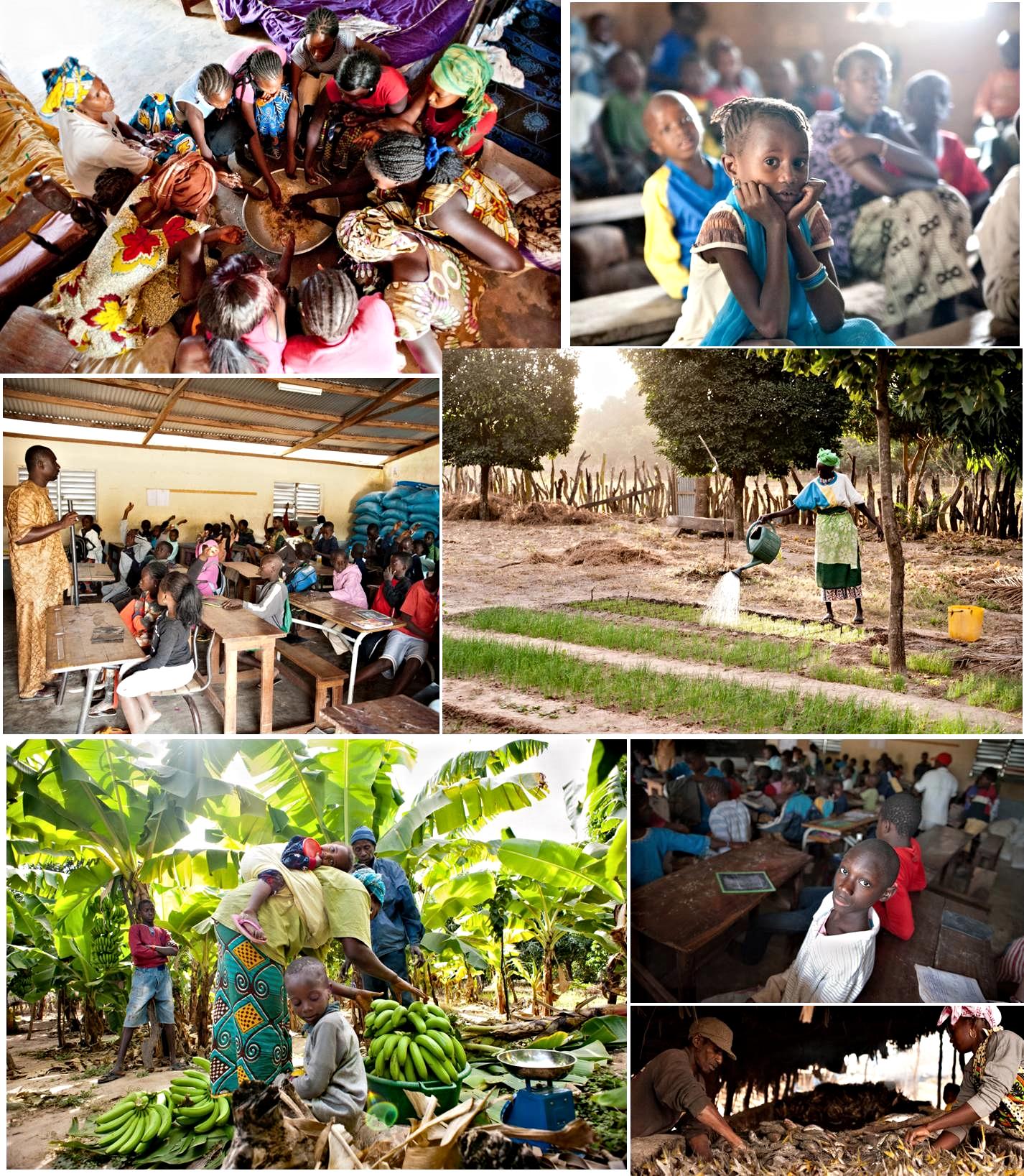 La vida cotidiana de Abéné. Fotografías de Diego A. Antón