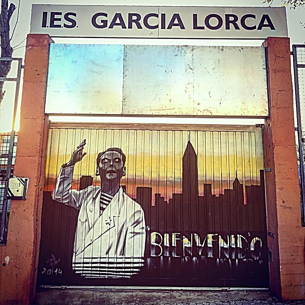 Portón de acceso al IES 'García Lorca' de Algeciras