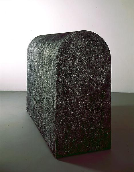 Michelangelo Pistoletto.Sacofago, 1966, Wood, cement and mica