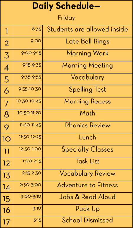 My 2nd Grade Schedule Part 2: Fitting It All In