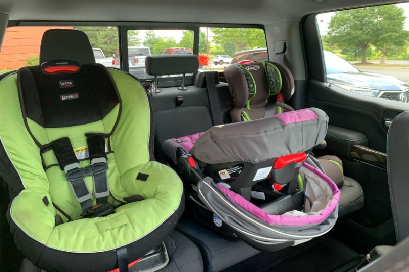 2019 GMC Sierra 1500 With Two Car Seats