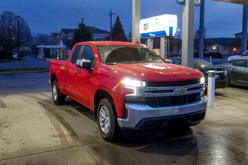 2019 Chevrolet Silverado 1500 2.7-Liter at Gas Pump