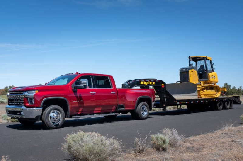 2020 Chevrolet Silverado 3500 Towing Gooseneck Trialer
