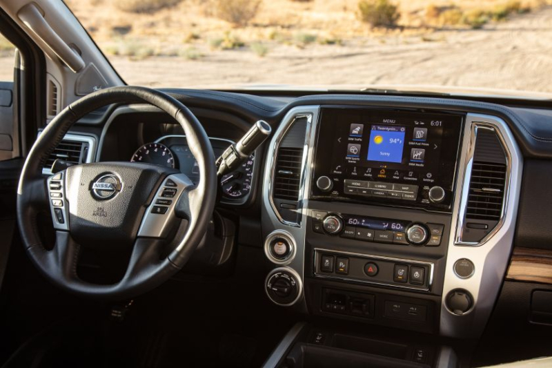 2020 Nissan Titan Center Console Display Screen