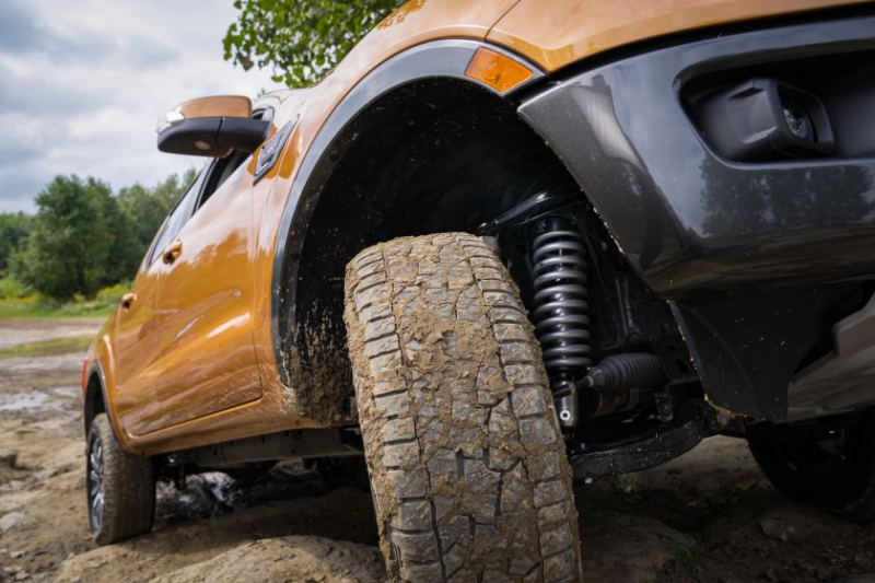 Ford Ranger with 2-inch suspension lift kit