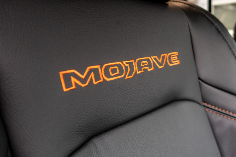 2020 Jeep Gladiator Mojave Front Seat Embroidery