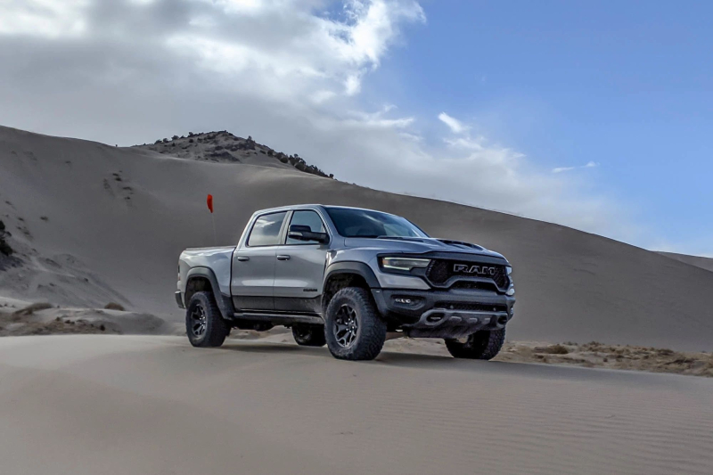 2021 Ram 1500 TRX Side Profile Against Sand Dunes