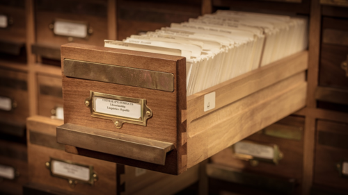 A catalogue drawer in the Asian and African Studies Reading Room (photo ©Jon Ellis)