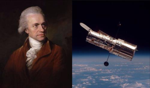 William Herschel and Hubble Space Telescope
