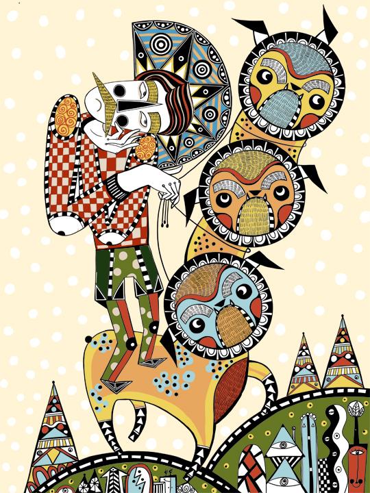 Ilustración para Small Wonder Magazine. Ola Volo, 2014.
