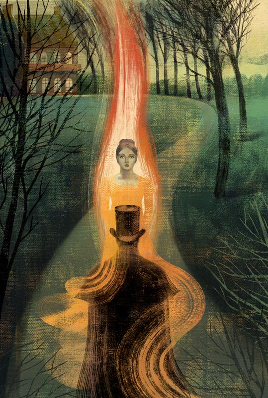"""Ilustración para el libro """"Eugene Onegin"""", de Alexander Pushkin, publicado por Folio Society. Balbusso 2012."""