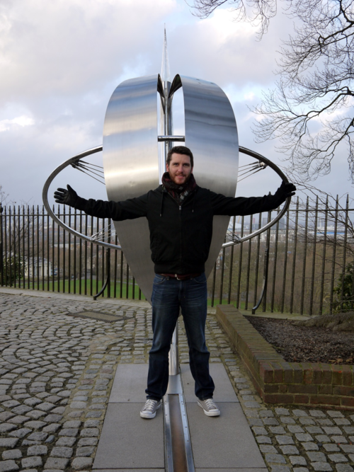 Mike on the Prime Meridian