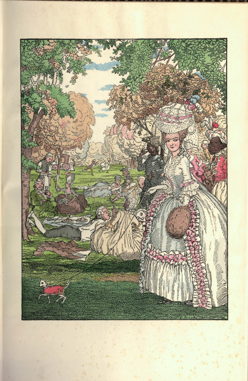 Somov Lesebuch Der Marquise Illustration ...