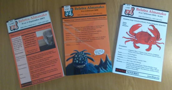 Three issues of the journal 'Beletra almanako'