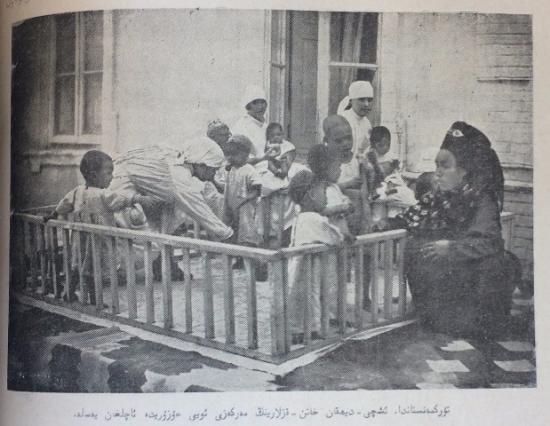 Photograph of children in a creche